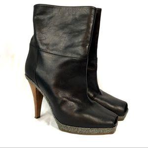 Marni Black Leather Italian mid calf boots size 9